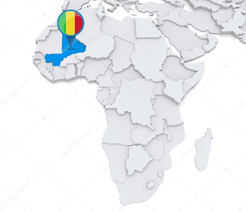 Mali On A Map Of Africa Stock Photo C Kerdazz7 55002783