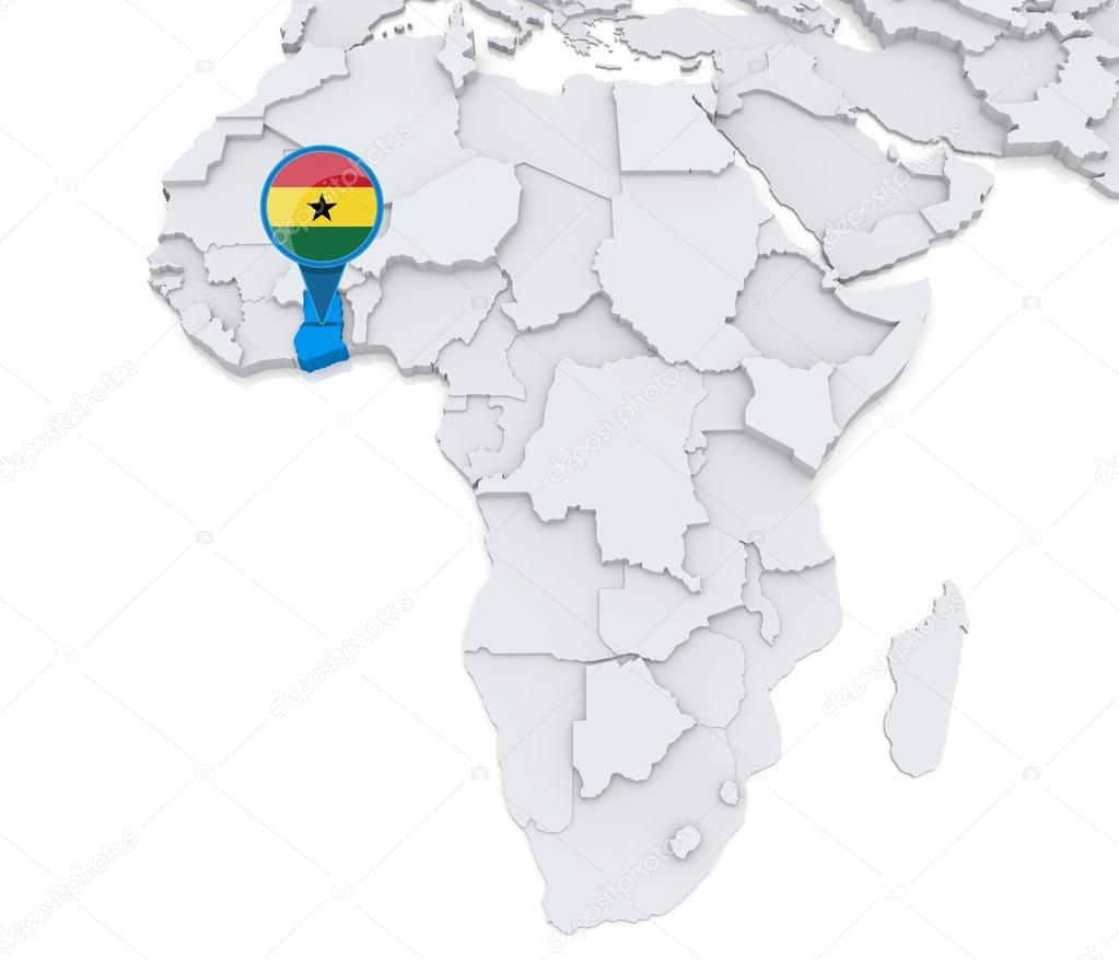 Ghana In Africa Map.Ghana On A Map Of Africa Stock Photo C Kerdazz7 55002833