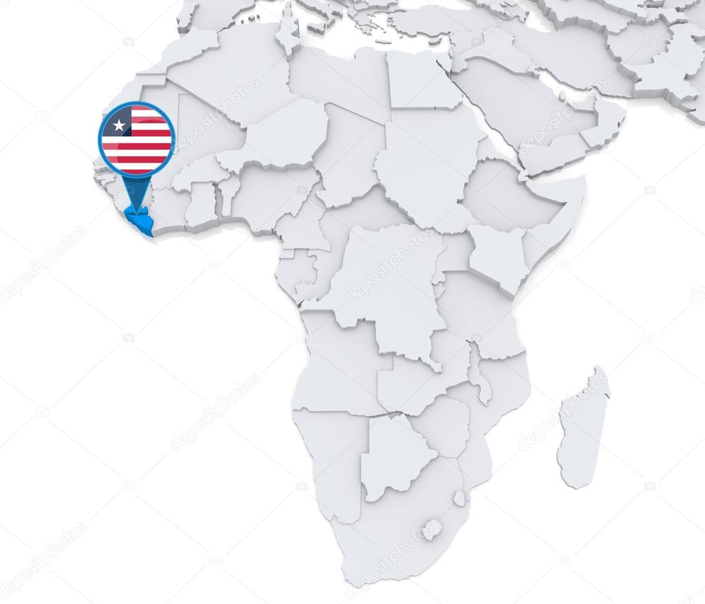 Liberia On Africa Map.Liberia On A Map Of Africa Stock Photo C Kerdazz7 55002849