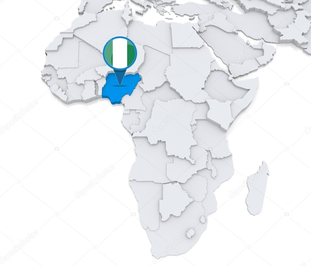 Africa Map Nigeria.Nigeria On A Map Of Africa Stock Photo C Kerdazz7 55002887