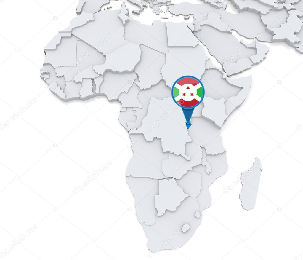 Burundi on a map of Africa Stock Photo kerdazz7 55003051