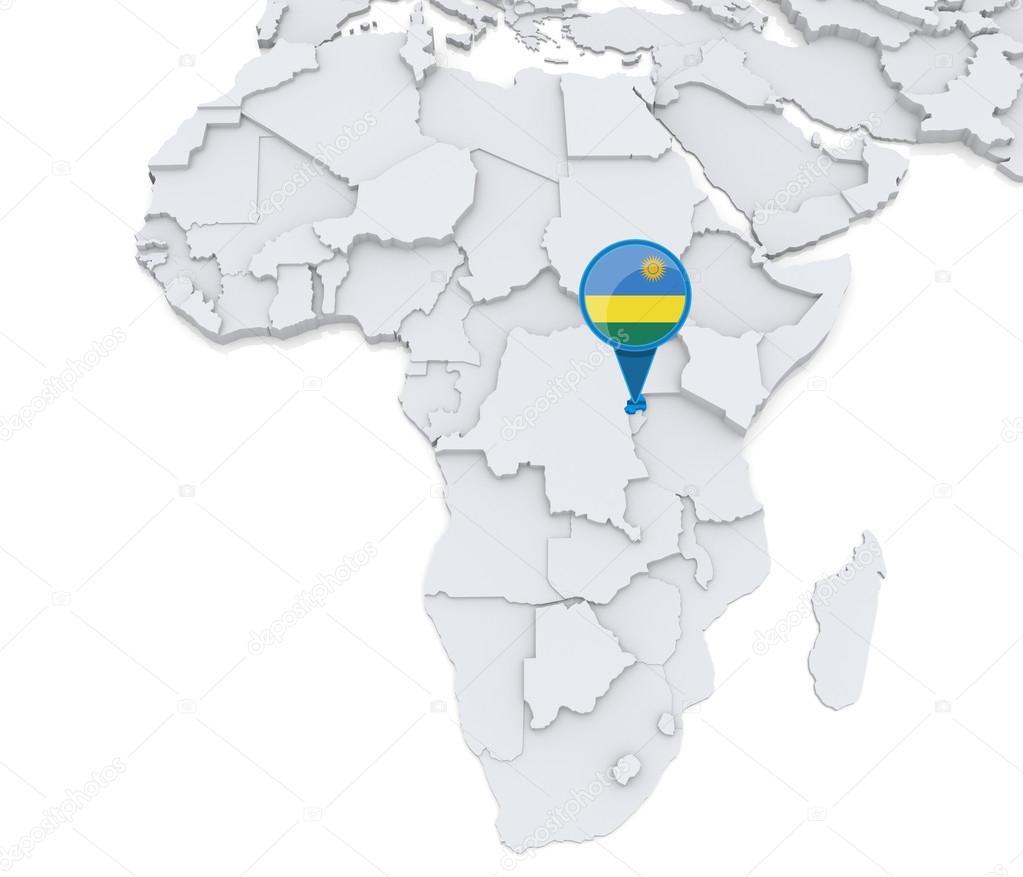 Rwanda On A Map Of Africa Stock Photo C Kerdazz7 55003065