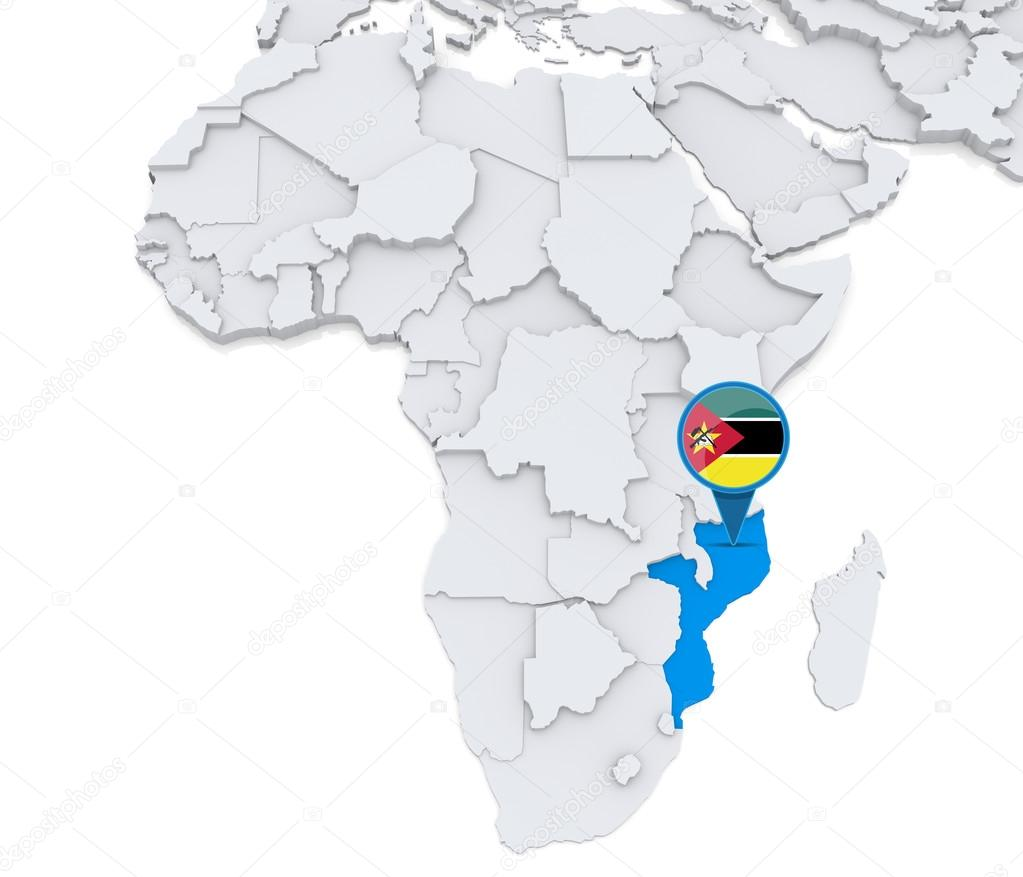 Mozambique on a map of africa stock photo kerdazz7 55003161 highlighted mozambique on map of africa with national flag photo by kerdazz7 sciox Choice Image