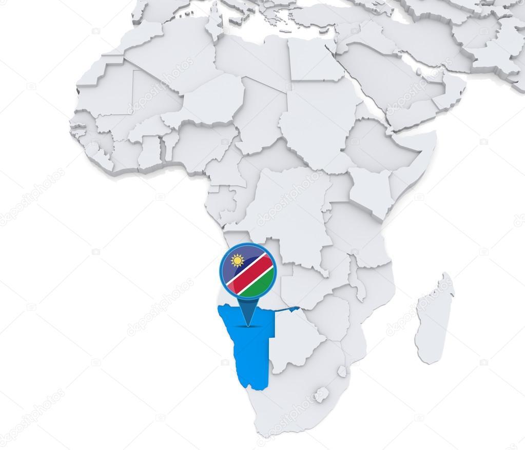 namibia karte afrika Namibia auf einer Karte von Afrika — Stockfoto © kerdazz7 #55003185 namibia karte afrika