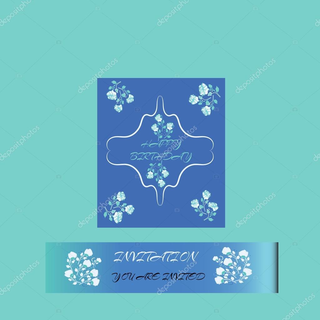 Cartolina Di Buon Compleanno Elegante, Per Flyer, Brochure