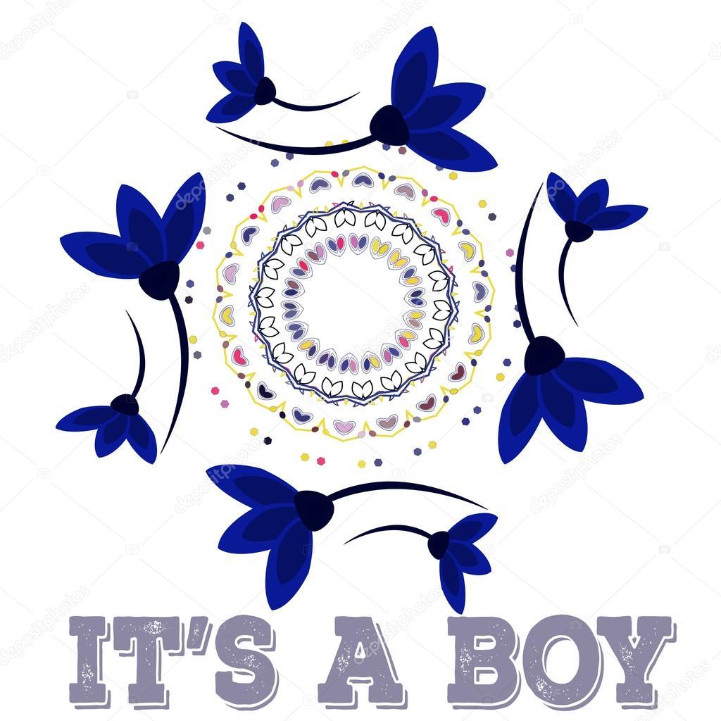 Vektor-Baby-Dusche. Symmetrie Kreis Form Kind Dekoration. oder ...