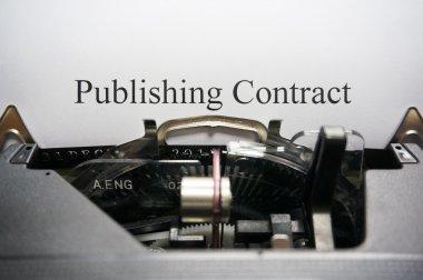 Publishing contract on typewriter