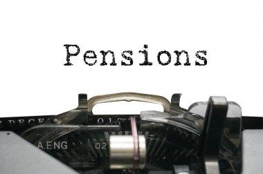Pensions on typewriter