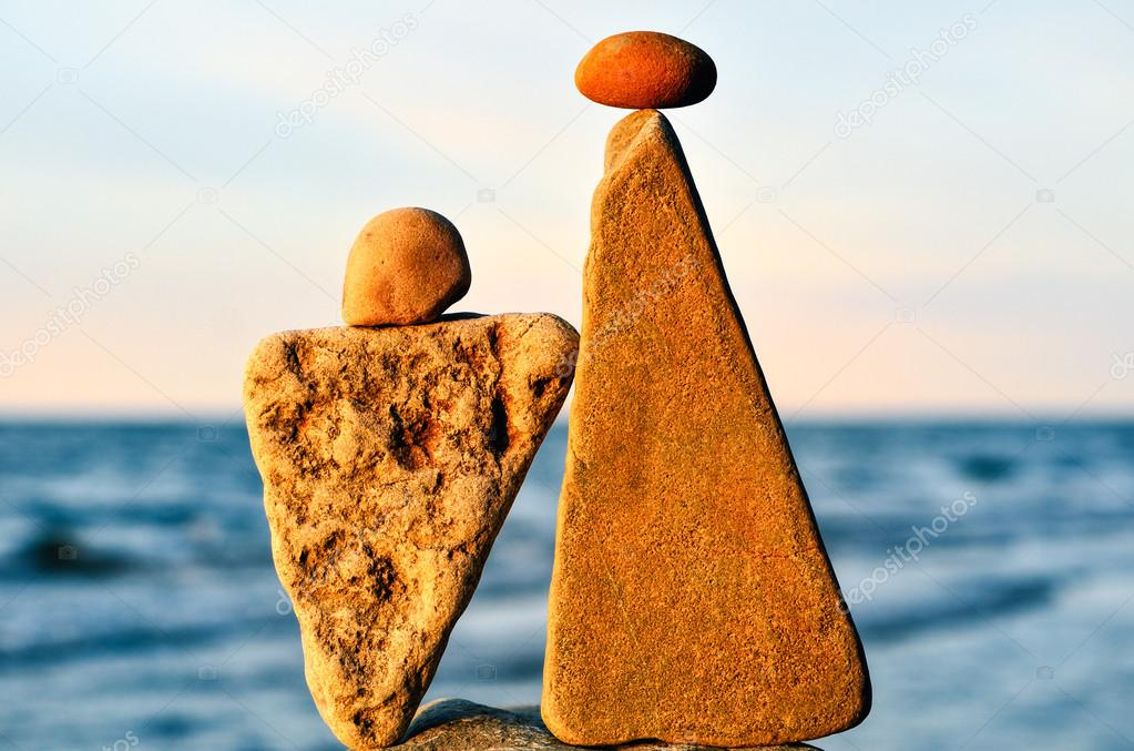 Two triangle stones