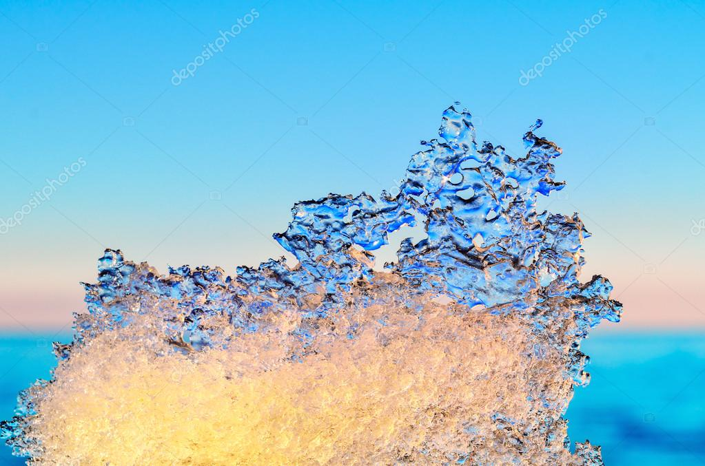 Abstraction of frozen water