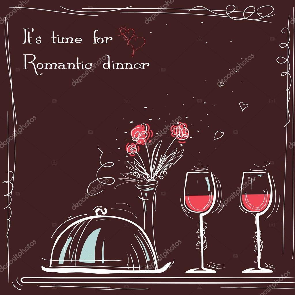 Tarjeta De Invitacion A Cena Romantica Amor Cena Romántica