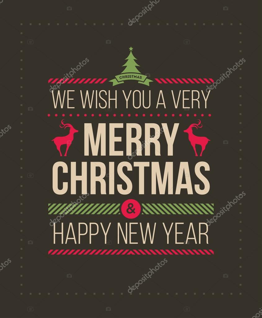 Weihnachten und neues Jahr Gruß Design — Stockvektor © sgursozlu ...