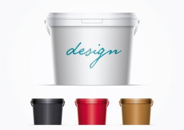 Plastic Paint Bucket Set