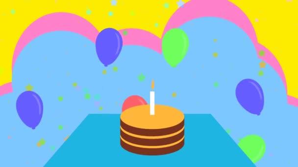 Alles Gute zum Geburtstag animierter Hintergrund