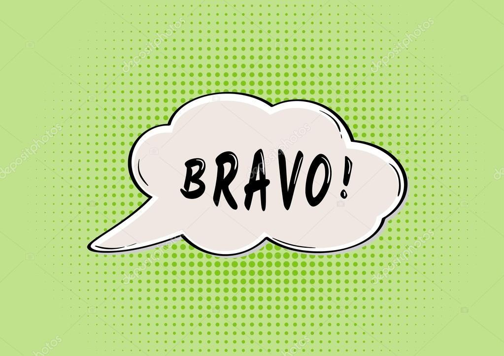 81461f2c2f BRAVO speak bubble in retro comic style — Vector by muuraa