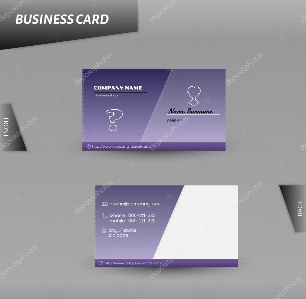 modern design business card vector template — Stock Vector © muuraa ...