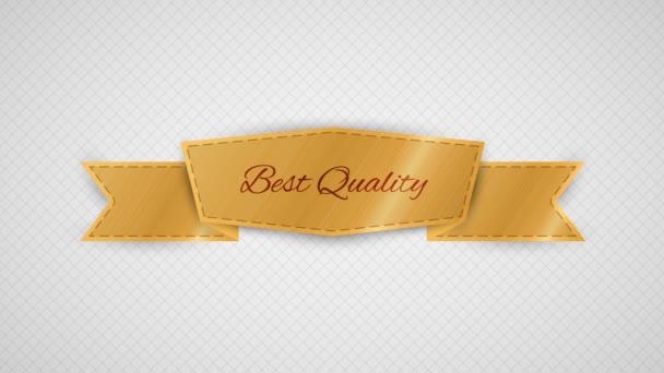 Pohybující svítící prvek na zlaté nejlepší kvality label na šedé milimetrový papír