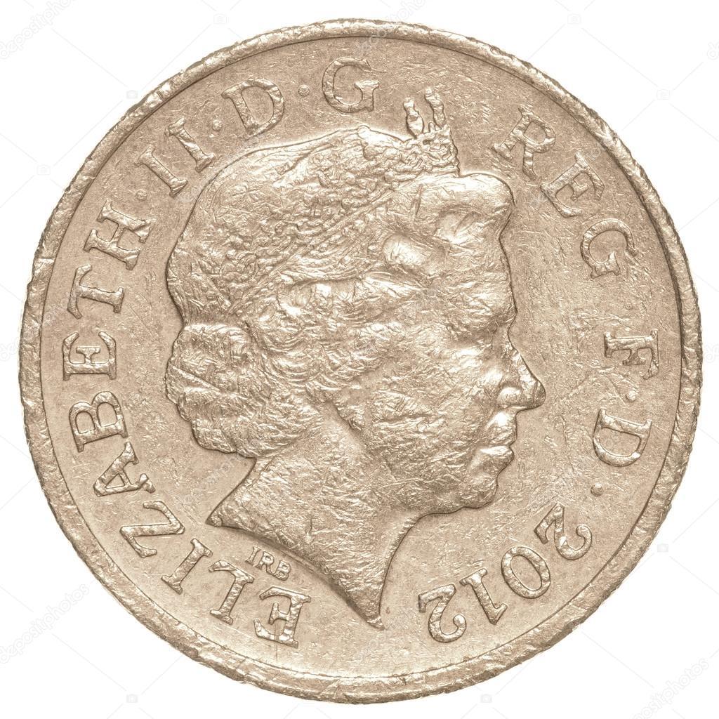 Eine Britische Pfund Münze Redaktionelles Stockfoto Asafeliason