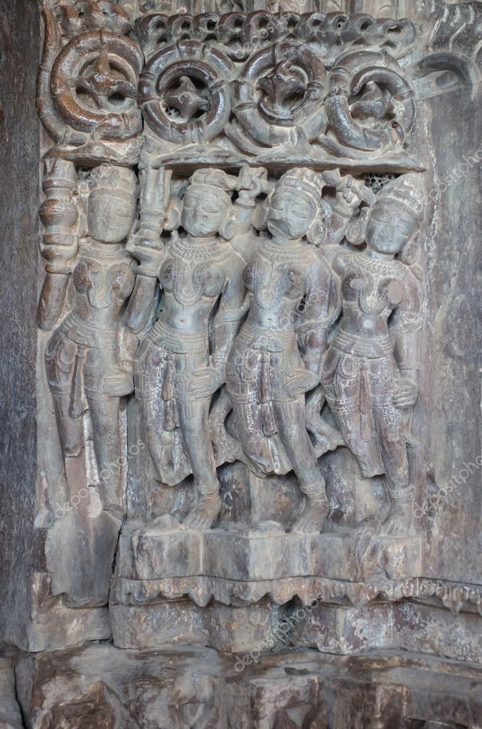 Stone carvings at the ancient jain temple of bijolia