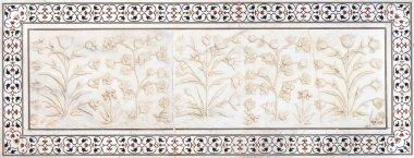 Mughal stone art, Taj Mahal, India