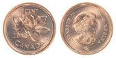 10 kanadai cent érme a elszigetelt fehér háttér