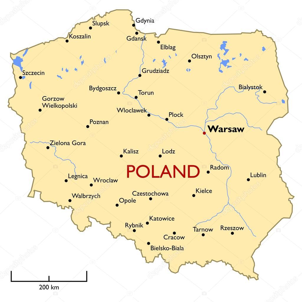 Polen Karte Umriss.Polen Karte Stockvektor C Lynx V 62397143