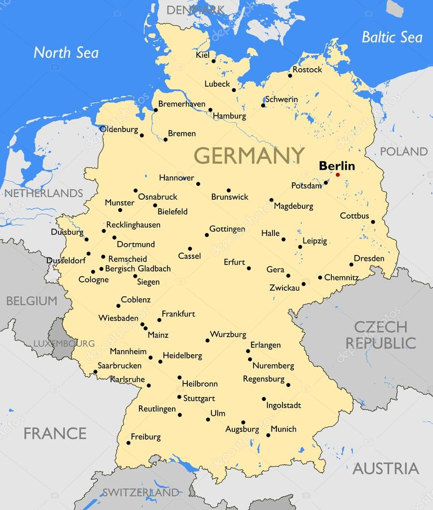 germany map stock vector