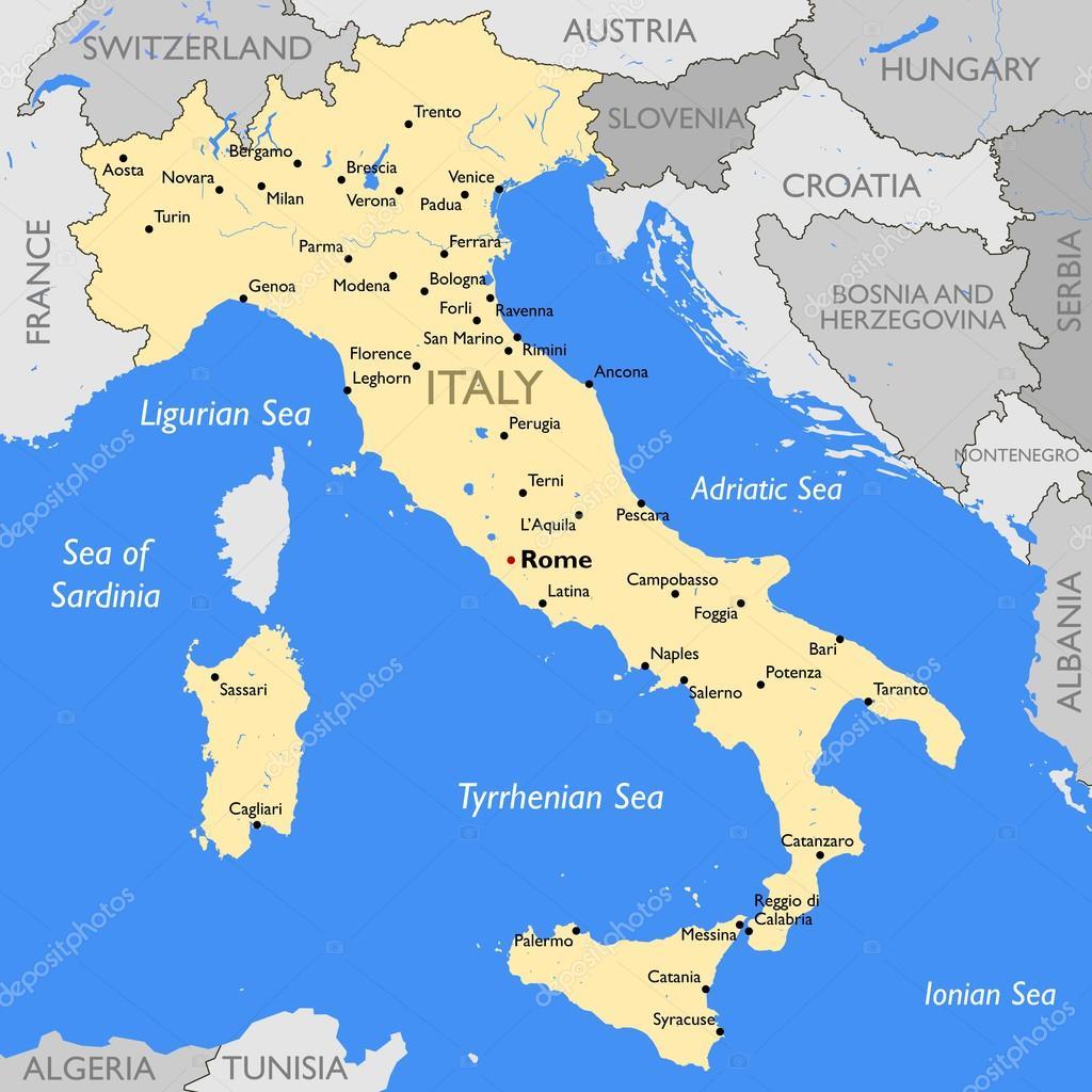 Italy Map Stock Vector C Lynx V 70197553