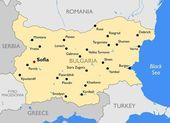 Bulharsko mapa