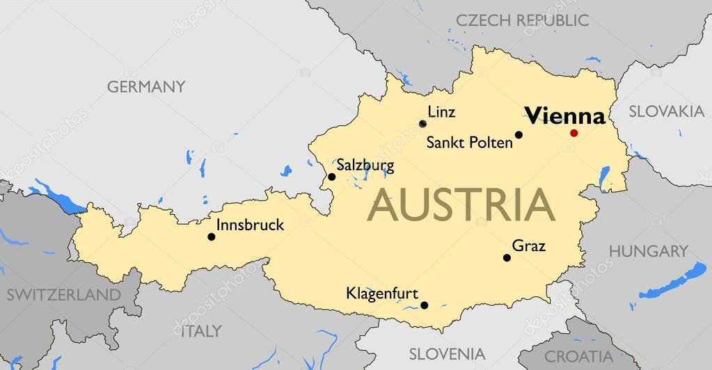 Austria Map Stock Vector C Lynx V 70293769