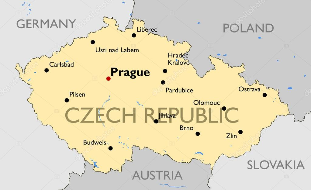tjeckien karta Tjeckien karta — Stock Vektor © lynx_v #70320613 tjeckien karta