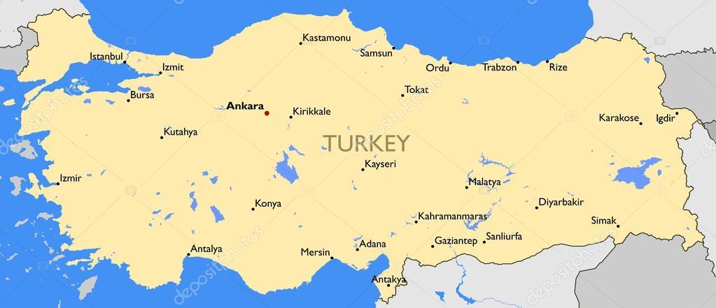 Turkey map Stock Vector lynxv 70670755