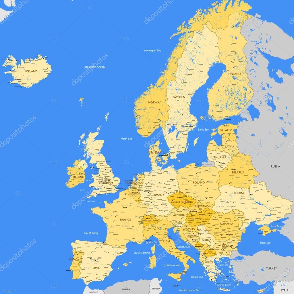 Karte Von Europa Mit Städten.Europa Karte Städte Stockvektor Lynx V 71066907