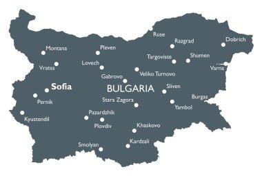 Vector Bulgaria map