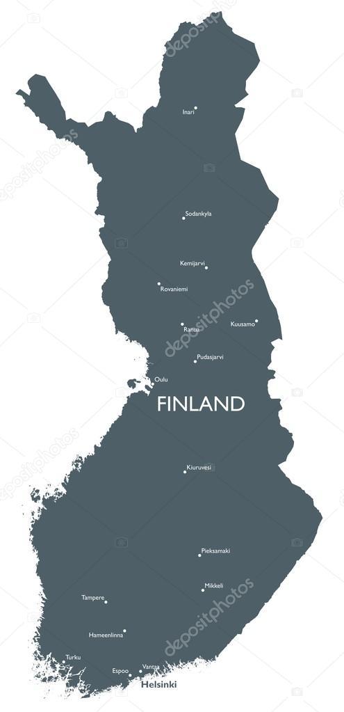 Vector Finland map Stock Vector lynxv 90605486