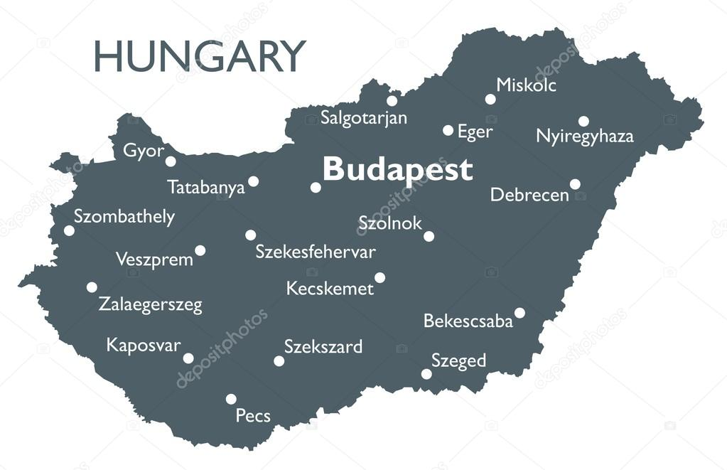 ᐈ Budapest Outline Stock Vectors Royalty Free Country Outline