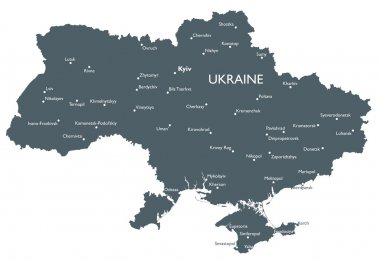 Vector Ukraine map