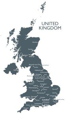 Vector United Kingdom map
