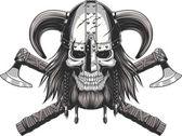 Viking Lebka v helmě