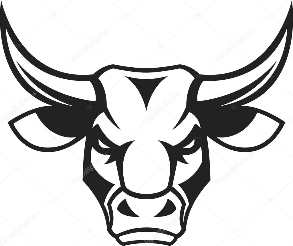 It's just a graphic of Handy Bull Head Drawing