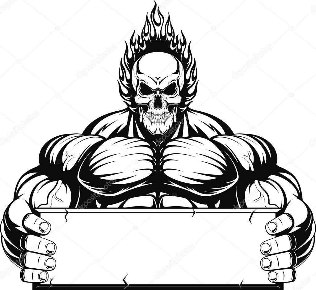 Bodybuilder — Stock Vector © Andrey_Makurin #72170399