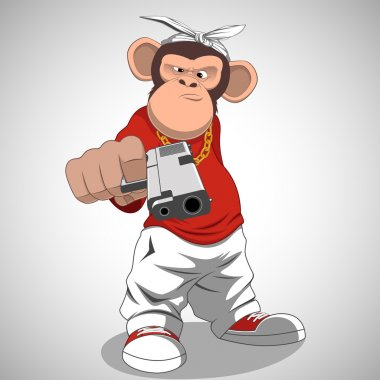 Monkey with a gun