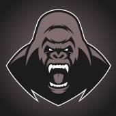 Naštvaná gorila symbol