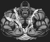 Photo Terrible gorilla athlete