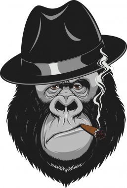 Monkey with a cigar