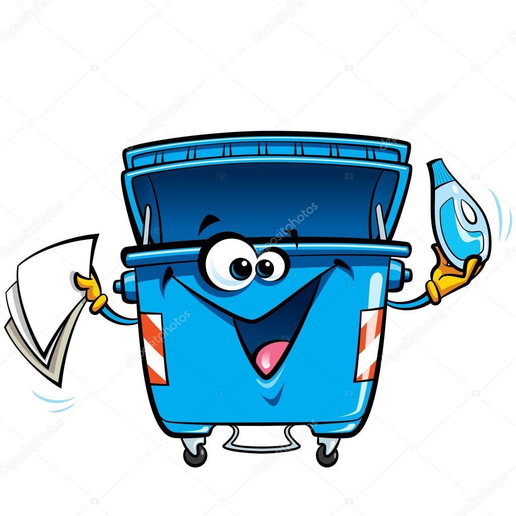 dibujos animados de cara feliz reciclar basura bin recycle vector symbol recycle vector file