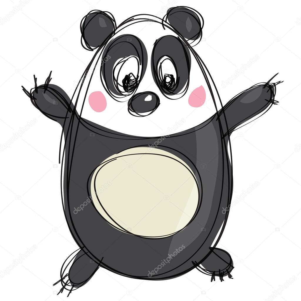 Karikatury Cernobile Roztomile Pandy Jako Naivni Deti Kresba