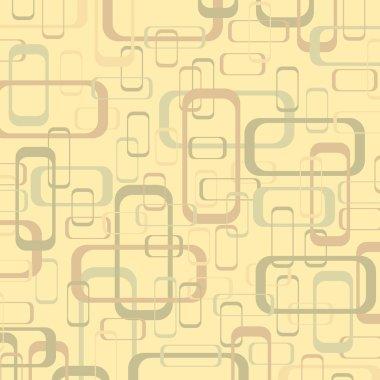 Vector vintage beige and yellow geometric pop design wallpaper b
