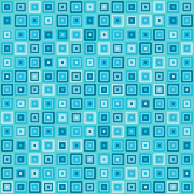 Vector vintage turquoise square rectangles geometric pop design