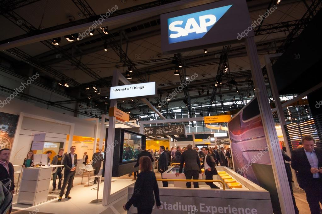 Hannover Outlet hannover germany march 14 2016 booth of sap company at cebit
